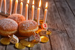 Hannukah doughnuts background - 74325154