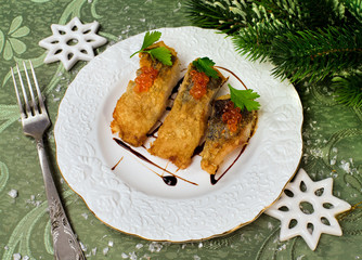 New years food - roasted fish