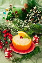 Christmas  appetizer in orange