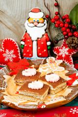 Dessert for Christmas, cookies and Santa