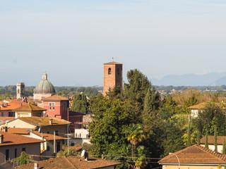 Panorama of the city of Pietrasanta