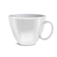 Realistically drawn vector mug for you printed
