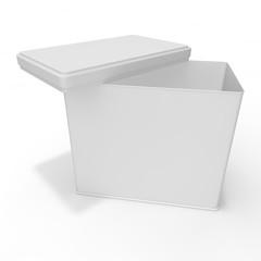 White blank bank