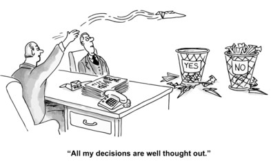 "Yes, No: ""All my decisions are well thought out."""