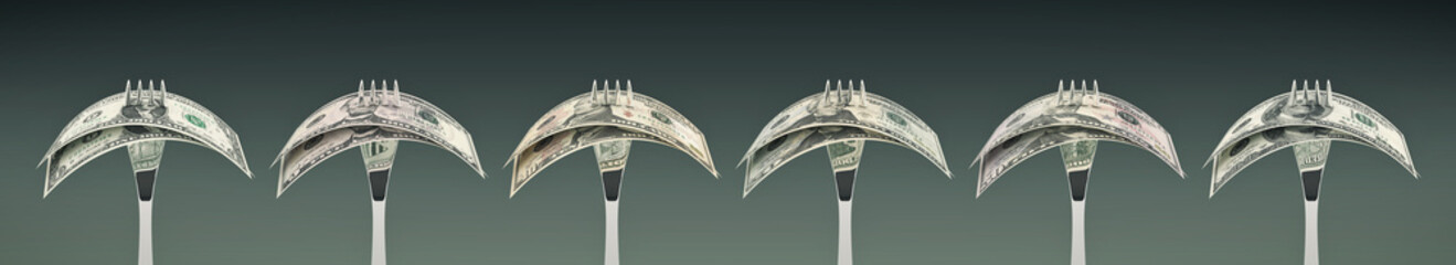eating us dollar - concept of business success