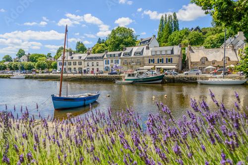 Leinwanddruck Bild Bretagne_Pont-Aven_Hafen