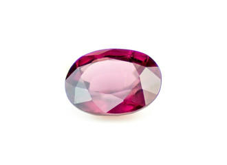 Faceted natural red rhodolite garnet gemstone