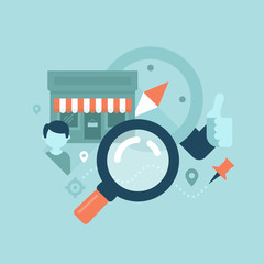 Local Business SEO Concept