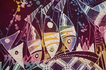 indonesian batik detail