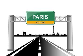 paris skyline welcome