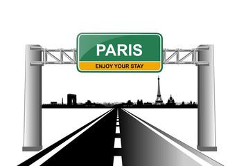 paris skyline enjoy your stay