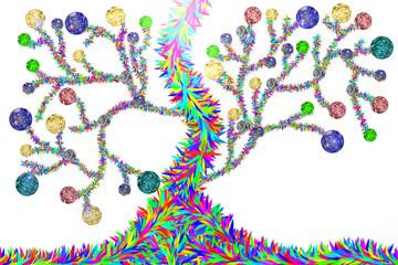 Albero colorato