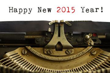 Happy new year typewriter