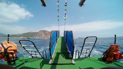 ship floats in the sea, Alanya, Turkey 2