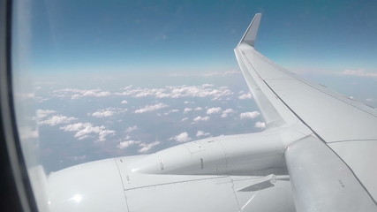 view from the porthole windows on the plane 2