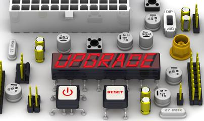 Модернизация (upgrade). Надпись на электронном индикаторе