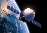 Crew Exploration Vehicle Orbiting Earth