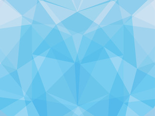 polygon geometric abstract background of light blue