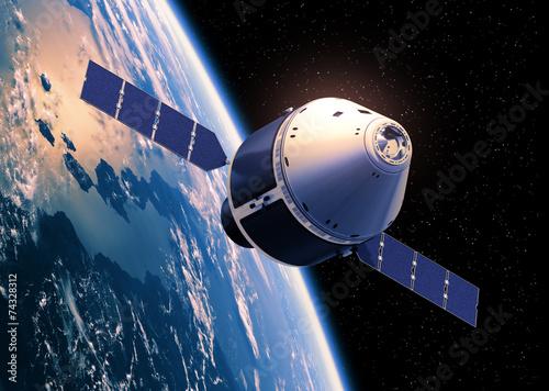 Crew Exploration Vehicle Orbiting Earth - 74328312