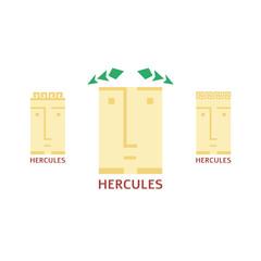 Vector minimalistic hercules head logotype