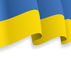 Background with waving Ukrainian Flag. Vector