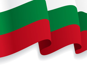 Background with waving Bulgarian Flag. Vector