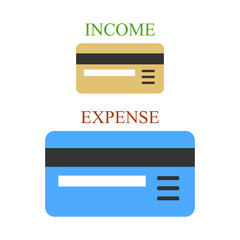 Bank cards as sings of income and expense