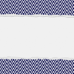 Navy Blue and White Torn Chevron Frame Background