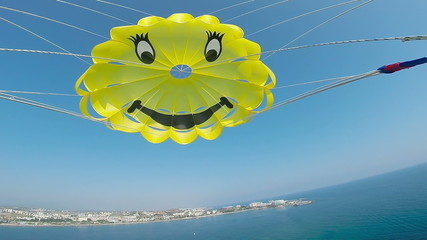 parachute for parasailing, Alanya Turkey