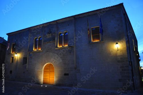 Atardecer en Cáceres, Palacio de Mayoralgo, nobleza, Extremadura, España - 74329570