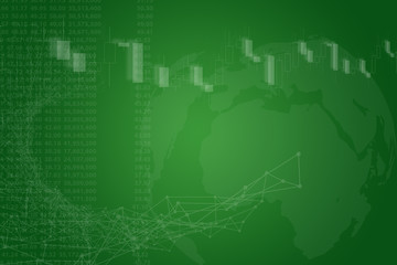 Green economic Globe Background