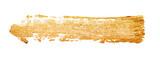 Strokes of golden paint - 74329938