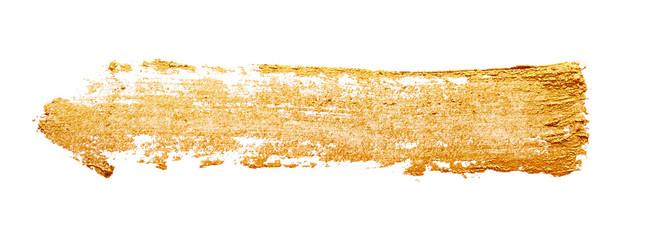 Strokes of golden paint