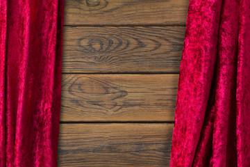 Hintergrund - Holz und Samt