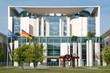 Leinwanddruck Bild - Ansicht des Kanzleramtes in Berlin