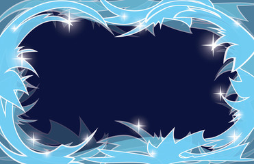 blue frosty christmas background - vector