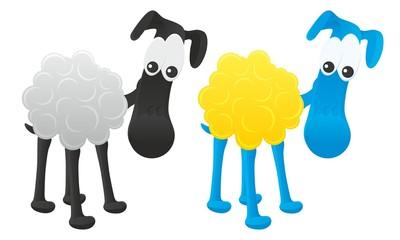 Cartoon vector sheep