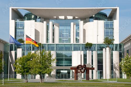 Leinwanddruck Bild Ansicht des Kanzleramtes in Berlin