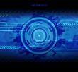 Obrazy na płótnie, fototapety, zdjęcia, fotoobrazy drukowane : Abstract blue technology illustration with place for your text.