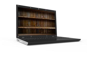 Shelf in a laptop