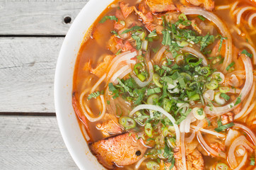 Vegetarian central Vietnamese hot and spicy soup