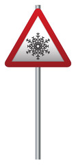 Snow Ahead Signpost