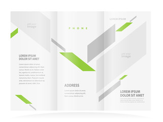 brochure design template abstract figure, frame for images