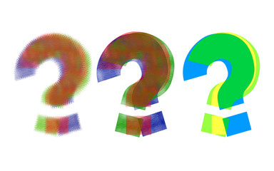 colorful question mark icons