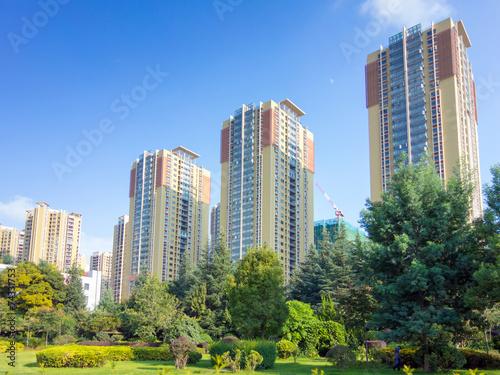 canvas print picture chinesische Wohnsiedlung