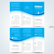 brochure design template vector trifold fisher, cmyk profile - 74331927