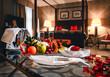 Leinwanddruck Bild - Luxury hotel room
