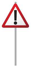 Exclamation Mark Signpost