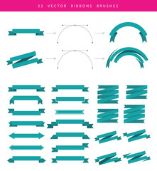 Set include 22 vector ribbons
