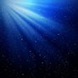 rays of light and stars